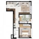 A casa construída com formato de L aproveita espaço. (Foto: Divulgação)