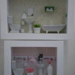 cenário de banheiro em miniatura
