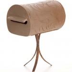 Caixa de correio marrom