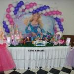 Decoração de Mesa de Festa da Barbie