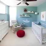 O quarto de bebê masculino pode ser clean e claro. (Foto: Divulgação)