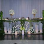 Ornamentação com flores naturais