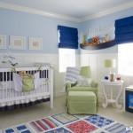A cor preferida na decoração de um quarto de bebê masculino é o azul.  (Foto: Divulgação)