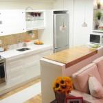 Decoração com pastilhas na cozinha pequena faz a diferença