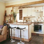 Detalhes em madeira dão charme a cozinha