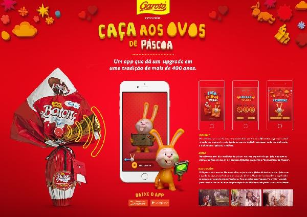 A Garoto tem um aplicativo exclusivo para a Páscoa (Foto Divulgação: Garoto)