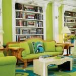 decoração com a cor verde