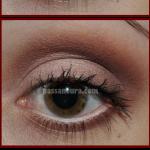 olhos marrom avermelhado