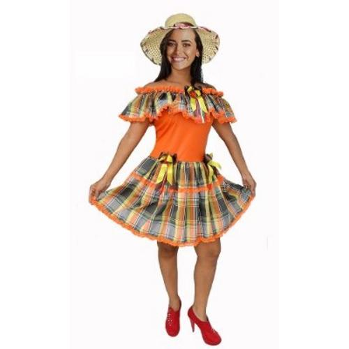 Traje caipira feminino para Festa Junina (Foto: Divulgação)