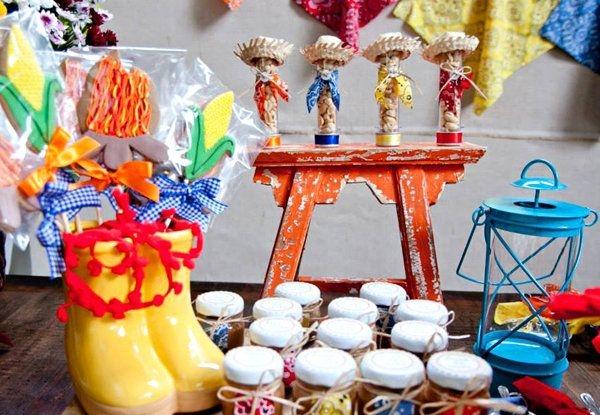A decoração da mesa da Festa Junina é fundamental (Foto: Divulgação)