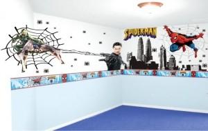 Papel de parede do Homem-Aranha para quarto infantil