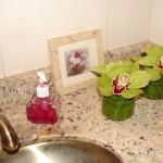 As orquideas ficam muito bem em banheiros