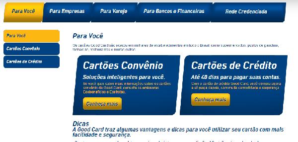 A Good Card oferece cartões convênio e cartões de crédito (Foro: Divulgação Good Card)