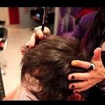 corte de cabelo com navalha