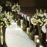 fotos de decoração de casamento na igreja 1
