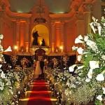 fotos de decoração de casamento na igreja
