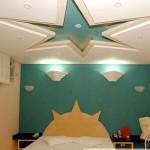 Veja essa sanca de gesso em formato de estrela (Foto: Divulgação)