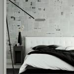 parede decorada com jornal fotos 3