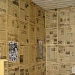 parede decorada com jornal fotos 6
