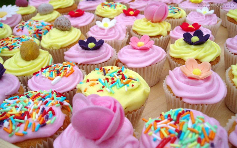 Fofura de bolinho cupcakes e sua beleza atrativa