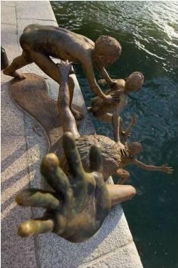 Essa estátua é bem simbólica (Foto: Divulgação)