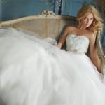 Vestido de noiva com saia armada