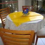 Decoração de festa com o tema galinha pintadinha
