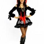 Para as mulheres existem fantasias com vestidos curtinhos se quiserem ir mostrando as pernas. (Foto: Divulgação)