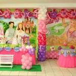 Decoração de aniversário de meninas com temas da Barbie