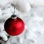 Modelo simples de bolinha de Natal. (Foto: Divulgação)