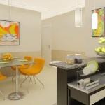 Uso de balcão em ambientes integrados