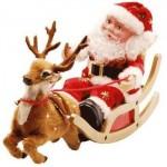 Papai Noel no trenó como objeto decorativo