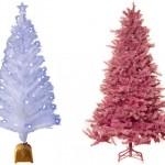 Árvores coloridas para inovar a decoração de natal