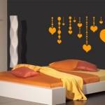 Decoração com adesivos para quarto de casal 4