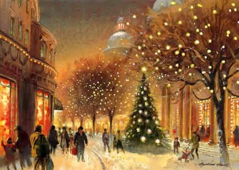 A neve ocorre no Natal europeu, pois em dezembro lá é inverno (Foto: Divulgação)