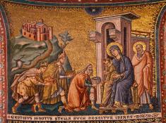 Os Reis Magos levam presentes para Jesus (Foto: Divulgação)
