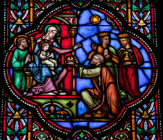 Jesus é adorado pelos três Reis Magos (Foto: Divulgação)