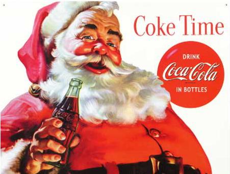 A Coca Cola apresentou a nova imagem do bom velhinho para o mundo (Foto: Divulgação)