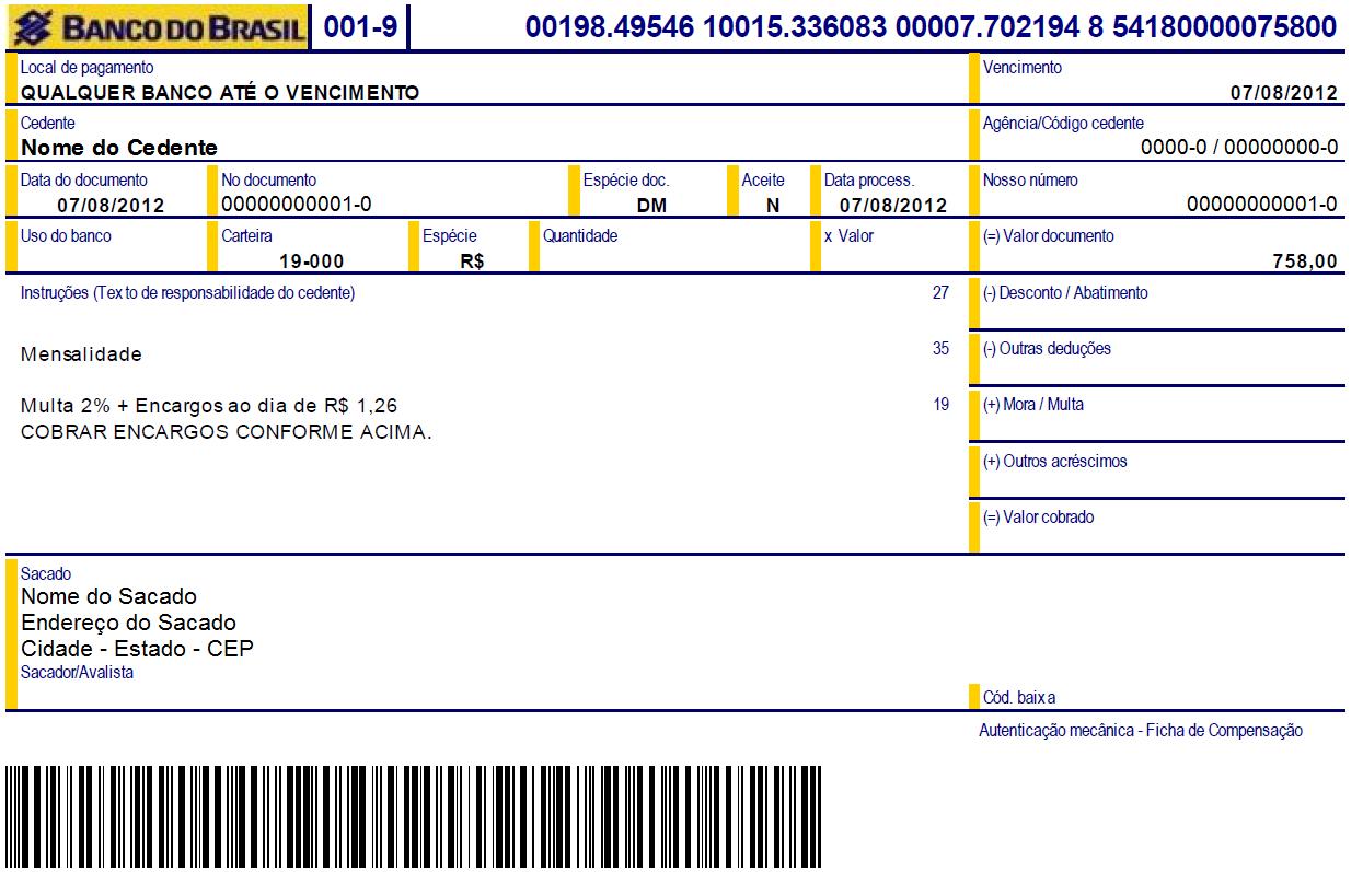 Aprenda a emitir e a atualizar o seu boleto do Banco do Brasil (Foto: Ilustração)