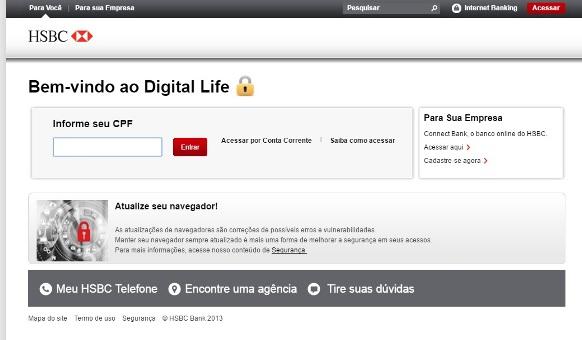 Digital Life do HSBC. (Foto: Divulgação)