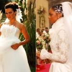Casamentos no inicio da novela Páginas da Vida (Foto:Divulgação)