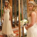 Vestido cheio de glamour de Natalie em Insensato Coração (Foto:Divulgação)
