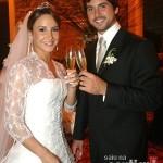Cláudia Leite no seu casamento (Foto:Divulgação)
