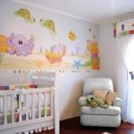 Decoração do quarto com papel de parede (Foto:Divulgação)