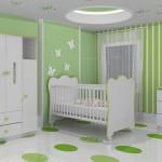 Decoração verde para o quarto do bebê (Foto:Divulgação)