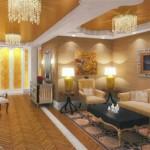 A sala da casa mais cara do mundo. (Foto: Divulgação)