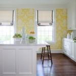 Nesse papel de parede predomina a cor amarela. (Foto: Divulgação)