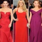 Vestidos com cores quentes no Oscar (Foto:Divulgação)