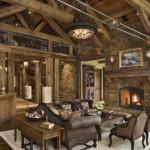 O interior de uma acolhedora casa de madeira. (Foto:Divulgação)