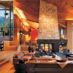 Uma decoração aconchegante e charmosa na casa de madeira. (Foto:Divulgação)